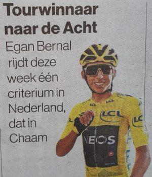 Egan Bernal está siendo honrado en los Países Bajos!